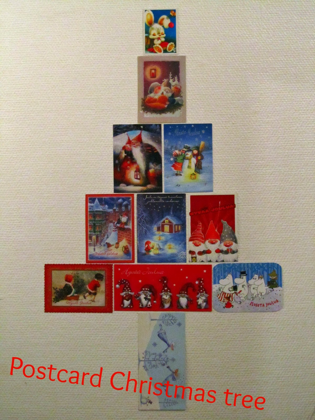 Vanhat Joulukortit Uusiokäyttöön