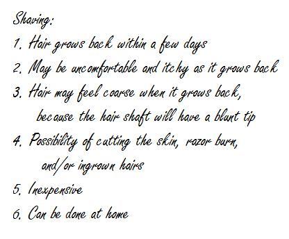 Landing strip waxing tips