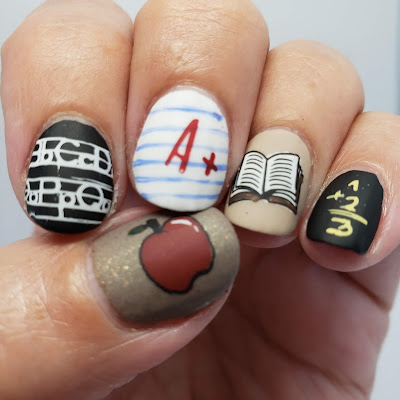 nail art, school nail art, stamping nail art, clear jelly stamper