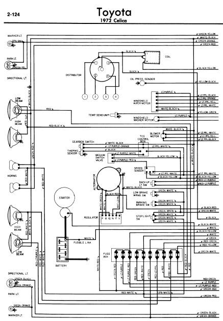 repairmanuals: Toyota Celica A20 1972 Wiring Diagrams