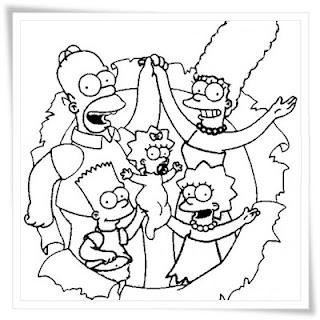 Ausmalbilder The Simpsons