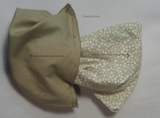 Threading My Way: Small Lined Drawstring Bag Tutorial...