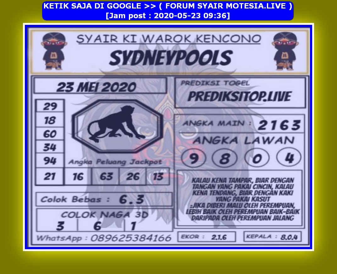 Kode syair Sydney Sabtu 23 Mei 2020 162