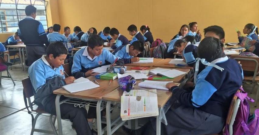 MINEDU: Clases en colegios afectados por Niño costero terminarán quincena de enero - www.minedu.gob.pe
