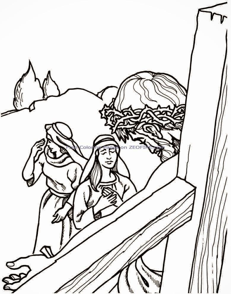 Jesus crucificado para colorear ~ Dibujos Cristianos Para