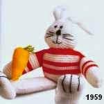 patron gratis conejo amigurumi de punto, free knit amigurumi pattern rabbit