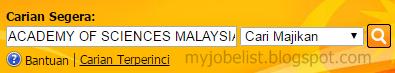 Jawatan Kosong di Akademi Sains Malaysia (ASM) Oktober 2016