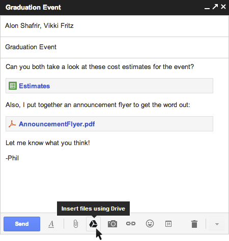 Gmail and Drive - a new way to send files