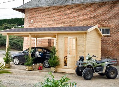 abri voiture et carport. Black Bedroom Furniture Sets. Home Design Ideas