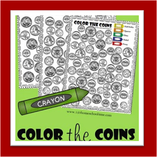 Color Coins Money Worksheets