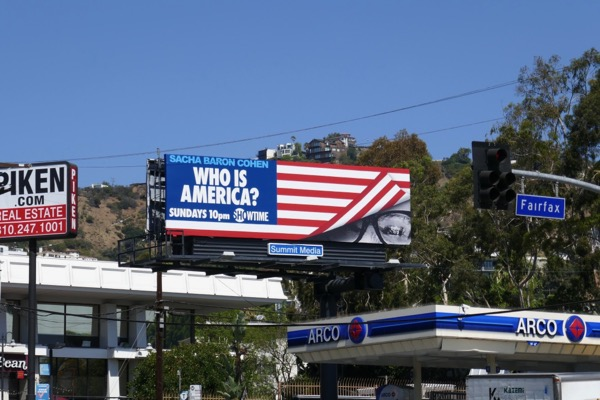 Who is America series launch billboard