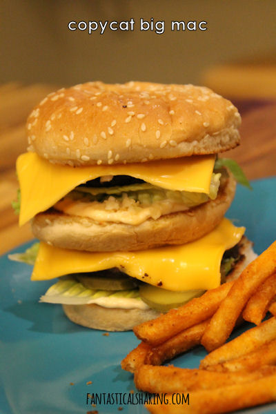 Copycat Big Mac #recipe #burger #mcdonalds #bigmac #copycat #beef