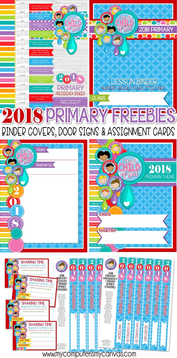 2018 FREE Primary Printables! :)