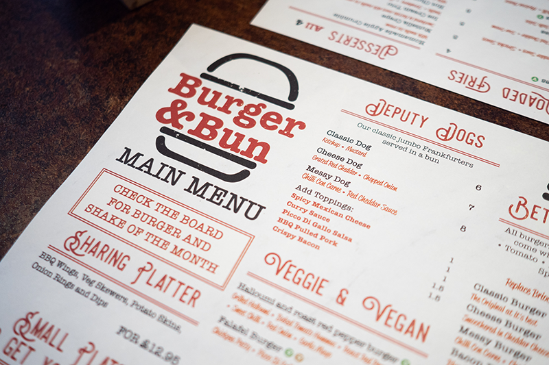Burger and Bun Glasgow Bearsden Review Menu | Colours and Carousels - Scottish Lifestyle, Beauty and Fashion blog