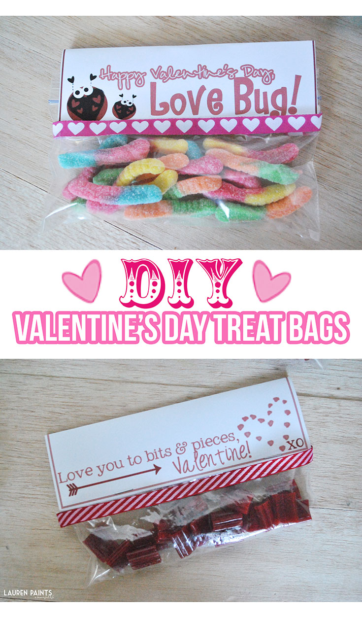 DIY Valentine's Day Treat Bags with 2 FREE Valentine's Day Printables