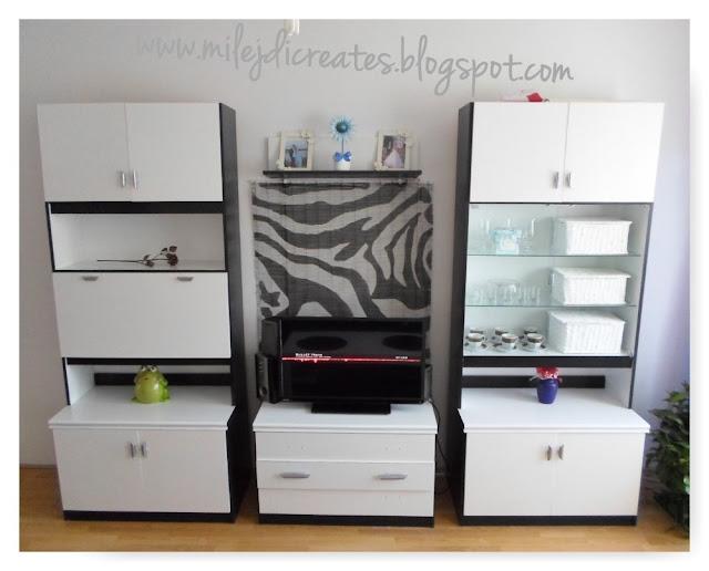 Metamorfoza salonu // Metamorphosis of the living room DIY malowanie mebli na biało