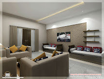 Awesome 3d Interior Renderings - Kerala Home Design And