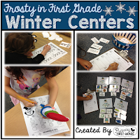 Winter Math and Literacy Centers Through the Season