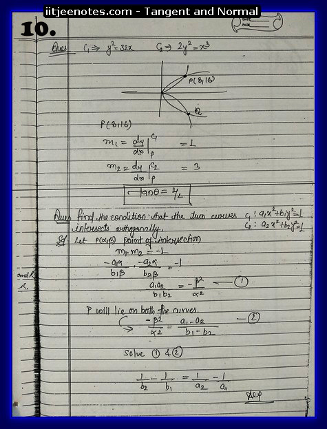 Tangent and Normal Notes5