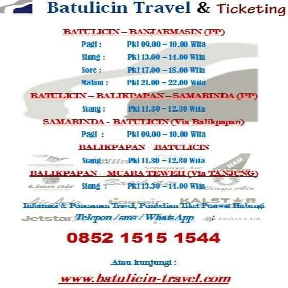 Travel Batulicin Banjarmasin Travel Banjarmasin Batulicin