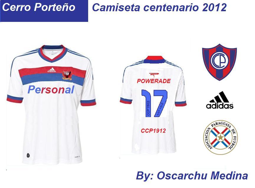 Camisetas de Futbol  Camiseta Alternativa Cerro Porteño Centenario 2012 07e59186bea77