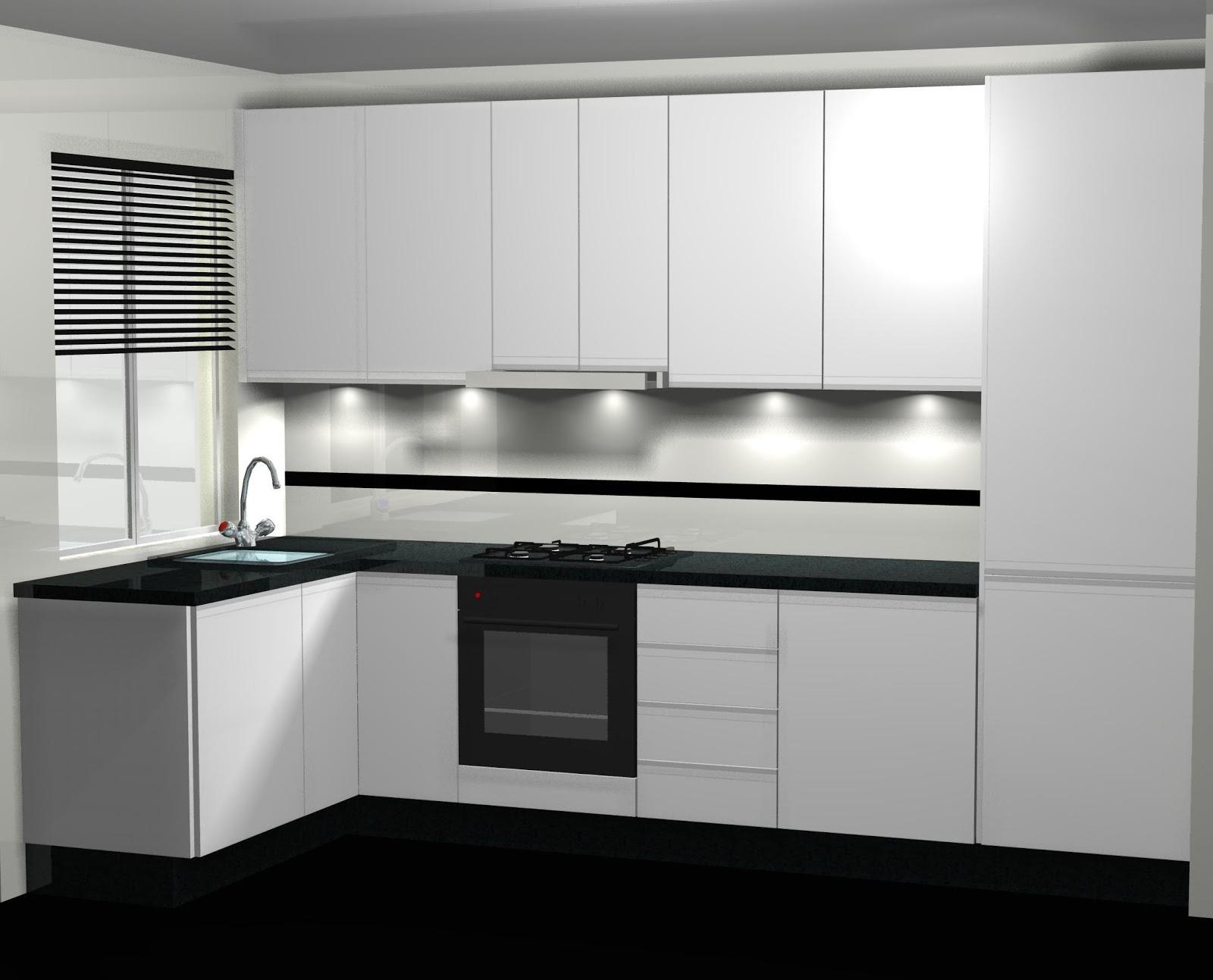 Mi Cocina Diseno De Cocina En Blanco Lacado Con Encimera En Negro - Como-disear-mi-cocina