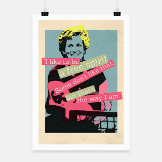 poster, LadiDi punk-rock style desig at RedBubble