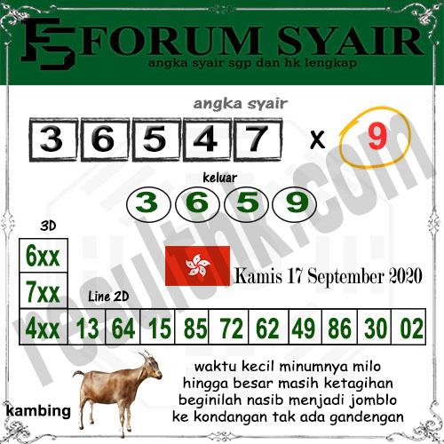 Forum syair hk Kamis 17 September 2020