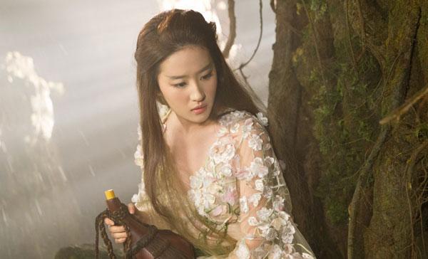 Liu Yifei as Bai Qian in ONCE UPON A TIME (2017)