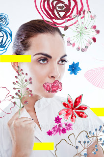 Flowers, Sanja, Artwork, Mixed Media, Summer Beauty Makeup Colors Colours
