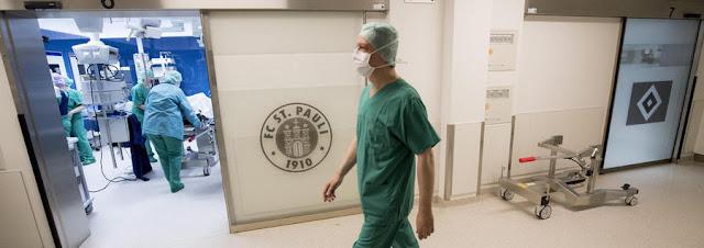 Hospital em Hamburgo tem salas de operação com logo de seus principais times