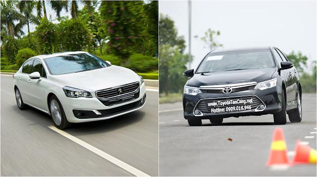 Chọn Peugeot 508 (trái) hay Toyota Camry 2015 (phải) tại Việt Nam ?