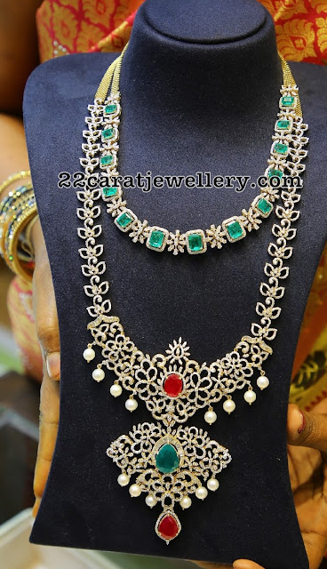 Diamond Necklaces from Amuktha Jewellery