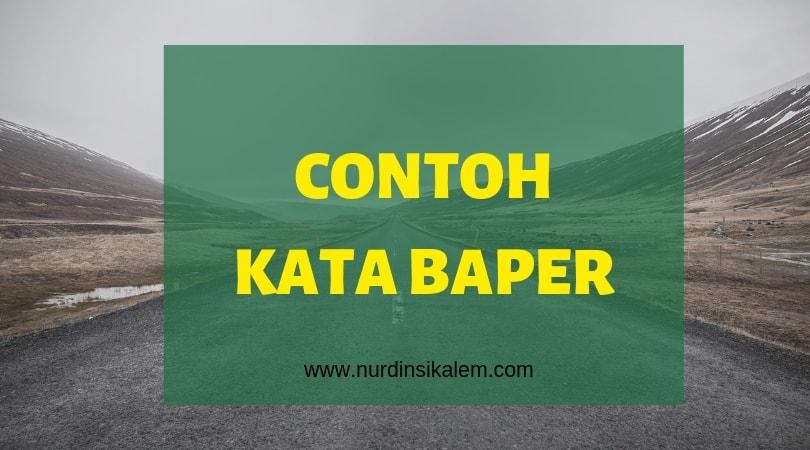 Contoh kata baper
