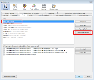 How to add custom font in ireport