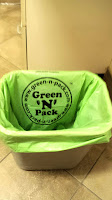 Green compostable plastic-free trash cans