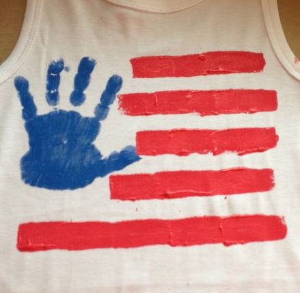 Be Different Act Normal Handprint Flag 4th Of July Craft