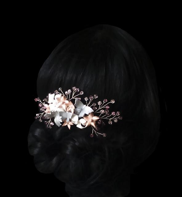 Peineta Novia con Cristal Swarovski · Crystal Bridal Comb