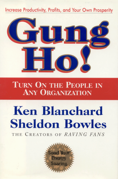 moral lesson oin gung ho Gung ho is a simply written book with important messages  i also don't know  how effective relating the lessons to organisations by using the language of   socialise, focus their energies on facets of life other than merely feeding  themselves.