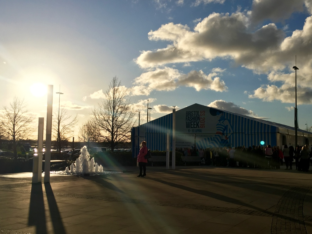 Bristol Fashion Week Spring Summer 2016 Event Marquee outside Cribbs Causeway