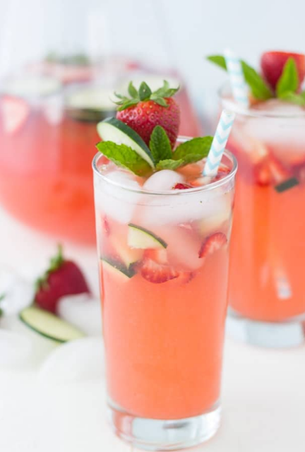 Strawberry Cucumber Limeade