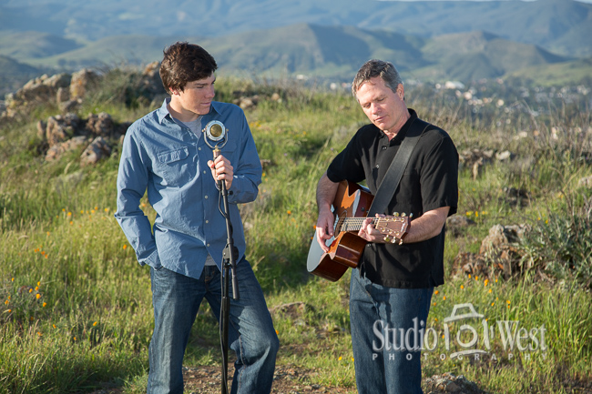 Real life business portrait - father and son musicians - About Us page photos - Studio 101 West Photography