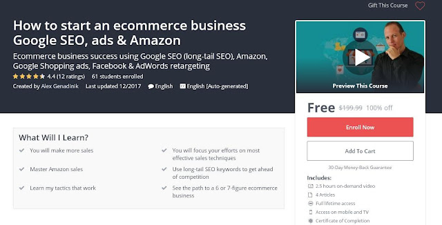 How to start an ecommerce business Google SEO, ads & Amazon