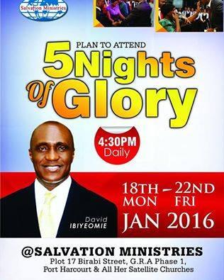 5 NIGHTS OF GLORY, david  ibiyeomie, david oyedepo, mike mouduck, w. f. kumuyi,5 night of glory, #5nightofglory