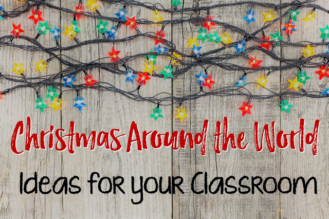 "e New Year, (or all of them!), they are always excited to learn about other countries and their holiday celebrations too!  In this post, you'll find tons of creative ideas and resources for an awesome and engaging unit on Christmas Around the World!  </div> <div class=""separator"" style=""clear: both; text-align: center;""> <a href=""https://3.bp.blogspot.com/-NIFR5HV146Y/WDtM1nyy6iI/AAAAAAAANCk/okoOAOPCQLAHyFmRor5UrDuI1m9uB5XigCLcB/s1600/Picture%2B%252810%2529.jpeg"" imageanchor=""1"" style=""margin-left: 1em; margin-right: 1em;""><img border=""0"" height=""426"" src=""https://3.bp.blogspot.com/-NIFR5HV146Y/WDtM1nyy6iI/AAAAAAAANCk/okoOAOPCQLAHyFmRor5UrDuI1m9uB5XigCLcB/s640/Picture%2B%252810%2529.jpeg"" width=""640"" /></a></div> <div style=""text-align: center;""> My students have always loved learning about the holiday traditions and beliefs of other cultures!  This topic is filled with opportunities to ALSO teach about geography too!  Plus, it's always great to expand your students' horizons as they learn about other countries.  They will become more culturally aware and the world becomes a smaller, friendlier place for them when they can relate to, and empathize with, other world citizens., </div> <div class=""separator"" style=""clear: both; text-align: center;""> <a href=""https://2.bp.blogspot.com/-Kffbn-kC9Zo/WDtNeXSkrUI/AAAAAAAANCo/25btDlsCxkoYNUbDjxNofnBhIrT1m0WpgCLcB/s1600/IMG_9564.JPG"" imageanchor=""1"" style=""margin-left: 1em; margin-right: 1em;""><img border=""0"" height=""118"" src=""https://2.bp.blogspot.com/-Kffbn- kC9Zo/WDtNeXSkrUI/AAAAAAAANCo/25btDlsCxkoYNUbDjxNofnBhIrT1m0WpgCLcB/s320/IMG_9564.JPG"" width=""320"" /></a></div> <div style=""text-align: center;""> With the excitement of the holidays in the air, it's a great time to take advantage of the kids' energy level and have them absorb all they can from some fabulous holiday books!  As a reminder, reading stories aloud to our students benefits them in so many ways.</div> <br /> <div class=""separator"" style=""clear: both; text-align: center;""> </div> <ul> <li style=""text-align: left;"">build vocabulary</li> <li style=""text-align: left;"">develop an understanding of story structures</li> <li style=""text-align: left;"">form connections between print elements and genres</li> <li style=""text-align: left;"">model fluency</li> <li style=""text-align: left;"">obtain deeper levels of understanding.</li> </ul> <div class=""separator"" style=""clear: both; text-align: center;""> </div> <div class=""separator"" style=""clear: both; text-align: center;""> </div> <div> <br /></div> <div style=""text-align: center;""> Here are a few read-aloud stories that are super-fun resources for teaching about Christmas around the world....</div> <div class=""separator"" style=""clear: both; text-align: center;""> <a href=""https://4.bp.blogspot.com/-35ijNJuNMoc/WDtOT2ZOqmI/AAAAAAAANCw/Xgpjy3yUtIQ2vceCKWTOCOdTZre0Sof2wCLcB/s1600/Capture%2B%25281%2529.PNG"" imageanchor=""1"" style=""margin-left: 1em; margin-right: 1em;""><img border=""0"" src=""https://4.bp.blogspot.com/-35ijNJuNMoc/WDtOT2ZOqmI/AAAAAAAANCw/Xgpjy3yUtIQ2vceCKWTOCOdTZre0Sof2wCLcB/s1600/Capture%2B%25281%2529.PNG"" /></a></div> <div style=""text-align: center;""> <span style=""color: #cc0000;"">Holidays Around the World - Celebrate Christmas: With Carols, Presents, and Peace</span></div> <div style=""text-align: center;""> <span style=""color: #cc0000;"">by Deborah Heiligman</span></div> <div style=""text-align: center;""> This book details the origins of Christmas as well as how it's now celebrated throughout the world.  Great pictures, facts and fun extension activities are to be found just inside!</div> <div class=""separator"" style=""clear: both; text-align: center;""> <a href=""https://1.bp.blogspot.com/-jRv0kPZfTHg/WDtVAmd_gWI/AAAAAAAANDE/Qji57IYNfRgL1Yg6yXnoYo4VxBtN9dZHQCLcB/s1600/Capture.PNG"" imageanchor=""1"" style=""margin-left: 1em; margin-right: 1em;""><img border=""0"" height=""320"" src=""https://1.bp.blogspot.com/-jRv0kPZfTHg/WDtVAmd_gWI/AAAAAAAANDE/Qji57IYNfRgL1Yg6yXnoYo4VxBtN9dZHQCLcB/s320/Capture.PNG"" width=""253"" /></a></div> <div style=""text-align: center;""> <span style=""color: #cc0000;"">The Legend of the Poinsettia</span></div> <div style=""text-align: center;""> <span style=""color: #cc0000;"">by Tomie dePaola</span></div> <div style=""text-align: center;""> Newbery honor-winning author & Caldecott honor-winning illustrator Tomie dePaola has illustrated the legendary Mexican tale of the well-known Christmas plant.  Children will learn a valuable lesson on what makes a worthy Christmas gift.</div> <div style=""text-align: center;""> <a href=""https://1.bp.blogspot.com/-3MVhJhUm-K0/WDtVmjcOUdI/AAAAAAAANDI/GSBnoyhEZpE8ts8uU0ZjEHvcV6Qkmm0bwCLcB/s1600/Capture%2B2.PNG"" imageanchor=""1"" style=""margin-left: 1em; margin-right: 1em;""><img border=""0"" height=""266"" src=""https://1.bp.blogspot.com/-3MVhJhUm-K0/WDtVmjcOUdI/AAAAAAAANDI/GSBnoyhEZpE8ts8uU0ZjEHvcV6Qkmm0bwCLcB/s320/Capture%2B2.PNG"" width=""320"" /></a></div> <div class=""separator"" style=""clear: both; text-align: center;""> <span style=""color: #cc0000;"">Angelina's Christmas</span></div> <div class=""separator"" style=""clear: both; text-align: center;""> <span style=""color: #cc0000;"">by Katharine Holabird</span></div> <div class=""separator"" style=""clear: both; text-align: center;""> Though most likely written for younger kids, this touching story is set in Britain--where Father Christmas visits, not Santa Claus.  A beautifully illustrated lesson about a small town and how it works together to take care of one of its special residents.  Yet, it also teaches kids to appreciate and value the older generation.  Many great discussions will arise from this story...</div> <div class=""separator"" style=""clear: both; text-align: center;""> <a href=""https://1.bp.blogspot.com/-RgUuydPsmCQ/WDtWO-1xDSI/AAAAAAAANDQ/Hrt5bG5pOHI_9_eQEn61uGpMc0eOOHOaQCLcB/s1600/Capture%2B3.PNG"" imageanchor=""1"" style=""margin-left: 1em; margin-right: 1em;""><img border=""0"" height=""257"" src=""https://1.bp.blogspot.com/-RgUuydPsmCQ/WDtWO-1xDSI/AAAAAAAANDQ/Hrt5bG5pOHI_9_eQEn61uGpMc0eOOHOaQCLcB/s320/Capture%2B3.PNG"" width=""320"" /></a></div> <div class=""separator"" style=""clear: both; text-align: center;""> <span style=""color: #cc0000;"">The Polar Express</span></div> <div class=""separator"" style=""clear: both; text-align: center;""> <span style=""color: #cc0000;"">by Chris Van Allsburg</span></div> <div class=""separator"" style=""clear: both; text-align: center;""> An award-winning story with magical illustrations!  (One cool way to intro the book is to explore the geography and location of the North Pole.)  This is a delightful story of a young boy's wondrous Christmas journey!  Every picture is worth discussing and/or can be used as a separate activity (a story starter) for writing about!  You can also learn about the geography of Europe (where reindeer really live) and how to find the North Pole on a map before reading the book.  And of course, there is also the classic holiday movie that you could watch and compare to the book.  </div> <div class=""separator"" style=""clear: both; text-align: center;""> <a href=""https://3.bp.blogspot.com/-HSdcYODUx5E/WDtagY0JJbI/AAAAAAAANDk/JWXMFllf07sCULg1AtyF7oceMEWKXItNQCLcB/s1600/Capture%2B4.PNG"" imageanchor=""1"" style=""margin-left: 1em; margin-right: 1em;""><img border=""0"" height=""400"" src=""https://3.bp.blogspot.com/-HSdcYODUx5E/WDtagY0JJbI/AAAAAAAANDk/JWXMFllf07sCULg1AtyF7oceMEWKXItNQCLcB/s400/Capture%2B4.PNG"" width=""278"" /></a></div> <div class=""separator"" style=""clear: both; text-align: center;""> <span style=""color: #cc0000;"">How the Grinch Stole Christmas!</span></div> <div class=""separator"" style=""clear: both; text-align: center;""> <span style=""color: #cc0000;"">by Dr. Seuss</span></div> <div class=""separator"" style=""clear: both; text-align: center;""> Set in Whoville (what country is that in?)...this CLASSIC Seuss story is one that every kid loves!  It emphasizes the values of family and friendship over commercialization in a fun and engaging tale!  Your class can delve deeper and analyze, compare & contrast the culture and traditions of Whoville and your home country.</div> <div class=""separator"" style=""clear: both; text-align: center;""> <a href=""https://1.bp.blogspot.com/-4RaElqMnJu4/WDtbIsCMGAI/AAAAAAAANDo/tutpjXZ1mw0-ALkHXtQ0xXdUnkCjms6XACLcB/s1600/Capture%2B5.PNG"" imageanchor=""1"" style=""margin-left: 1em; margin-right: 1em;""><img border=""0"" height=""400"" src=""https://1.bp.blogspot.com/-4RaElqMnJu4/WDtbIsCMGAI/AAAAAAAANDo/tutpjXZ1mw0-ALkHXtQ0xXdUnkCjms6XACLcB/s400/Capture%2B5.PNG"" width=""321"" /></a></div> <div class=""separator"" style=""clear: both; text-align: center;""> <span style=""color: #cc0000;"">The Legend of Old Befana</span></div> <div class=""separator"" style=""clear: both; text-align: center;""> <span style=""color: #cc0000;"">by Tomie dePaola</span></div> <div class=""separator"" style=""clear: both; text-align: center;""> This book tells the story of Befana who brings gifts to Italian children on Epiphany.  I love how this book tells such a beautiful legend in an obviously well-researched manner.</div> <div class=""separator"" style=""clear: both; text-align: center;""> <a href=""https://4.bp.blogspot.com/-lFYXaiZcwmk/WDtbf50dTiI/AAAAAAAANDs/K29rpGZcGas6lZVmfXqIOKbMXE-zJ-QdACLcB/s1600/Capture%2B6.PNG"" imageanchor=""1"" style=""margin-left: 1em; margin-right: 1em;""><img border=""0"" height=""400"" src=""https://4.bp.blogspot.com/-lFYXaiZcwmk/WDtbf50dTiI/AAAAAAAANDs/K29rpGZcGas6lZVmfXqIOKbMXE-zJ-QdACLcB/s400/Capture%2B6.PNG"" width=""350"" /></a></div> <div class=""separator"" style=""clear: both; text-align: center;""> <span style=""color: #cc0000;"">Trees of Cranes</span></div> <div class=""separator"" style=""clear: both; text-align: center;""> <span style=""color: #cc0000;"">by Allen Say</span></div> <div class=""separator"" style=""clear: both; text-align: center;""> Tree of Cranes is the story of a young boy living in Japan.  His mother has lived in California and wants to teach him about the traditions in both cultures.</div> <div class=""separator"" style=""clear: both; text-align: center;""> <a href=""https://1.bp.blogspot.com/-2AGcCKnvBOM/WDtby4w2wdI/AAAAAAAANDw/qaUDnQwzXegL5o5ramokaUOkXLa0Pvo0gCLcB/s1600/capture%2B7.PNG"" imageanchor=""1"" style=""margin-left: 1em; margin-right: 1em;""><img border=""0"" height=""400"" src=""https://1.bp.blogspot.com/-2AGcCKnvBOM/WDtby4w2wdI/AAAAAAAANDw/qaUDnQwzXegL5o5ramokaUOkXLa0Pvo0gCLcB/s400/capture%2B7.PNG"" width=""338"" /></a></div> <div class=""separator"" style=""clear: both; text-align: center;""> <span style=""color: #cc0000;"">The Trees of the Dancing Goats</span></div> <div class=""separator"" style=""clear: both; text-align: center;""> <span style=""color: #cc0000;"">by Patricia Polacco</span></div> <div class=""separator"" style=""clear: both; text-align: center;""> This book takes place in a village where many of the families have come down with Scarlet Fever.  As Trisha and her family prepare to celebrate Hanukkah, they realize that many of their neighbors will not be well enough to celebrate with them.  Trisha's family decides they will take a special holiday dinner and decorations to sick members of their community.  I love the example of unselfish giving!</div> <div class=""separator"" style=""clear: both; text-align: center;""> <a href=""https://2.bp.blogspot.com/-EwPfJyKY0DE/WDtcvs3avXI/AAAAAAAAND8/t7igITC5GxE6-Bz78twXwT4SCV1U75dcQCLcB/s1600/Capture%2B8.PNG"" imageanchor=""1"" style=""margin-left: 1em; margin-right: 1em;""><img border=""0"" height=""400"" src=""https://2.bp.blogspot.com/-EwPfJyKY0DE/WDtcvs3avXI/AAAAAAAAND8/t7igITC5GxE6-Bz78twXwT4SCV1U75dcQCLcB/s400/Capture%2B8.PNG"" width=""302"" /></a></div> <div class=""separator"" style=""clear: both; text-align: center;""> <span style=""color: #cc0000;"">Lucia Morning in Sweden</span></div> <div class=""separator"" style=""clear: both; text-align: center;""> <span style=""color: #cc0000;"">by Ewa Rydaker</span></div> <div class=""separator"" style=""clear: both; text-align: center;""> This book is my favorite to introduce my students to the Lucia Day holiday traditions in Sweden.</div> <div class=""separator"" style=""clear: both; text-align: center;""> <a href=""https://www.teacherspayteachers.com/Product/December-Read-Alouds-Interactive-Read-Alouds-2194164"" imageanchor=""1"" style=""margin-left: 1em; margin-right: 1em;""><img border=""0"" height=""480"" src=""https://4.bp.blogspot.com/-bit-PMrwc9k/WEIsO821vpI/AAAAAAAANH4/tuew0dIUDYcNgtXLd2qxuIjHQyJIYgamwCLcB/s640/Picture%2B%25282%2529.png"" width=""640"" /></a></div> <div class=""separator"" style=""clear: both; text-align: center;""> Do you love holiday books as much as I do?  These are some of the books that I share with my students during the month of December.  In my classroom, I use the interactive read aloud model to make the time I spend reading to my students more purposeful.  </div> <div class=""separator"" style=""clear: both; text-align: center;""> <a href=""https://www.teacherspayteachers.com/Product/December-Read-Alouds-Interactive-Read-Aloud-Freebie-Sampler-Auntie-Claus-2224423"" imageanchor=""1"" style=""margin-left: 1em; margin-right: 1em;""><img border=""0"" height=""480"" src=""https://2.bp.blogspot.com/-6celmCGns5Q/WEImTaQw3BI/AAAAAAAANHg/YgKCyo0u1AQ1kmu7kYbr4YDgHF10GIvBwCLcB/s640/unnamed.png"" width=""640"" /></a></div> <div class=""separator"" style=""clear: both; text-align: center;""> <br /></div> <div class=""separator"" style=""clear: both; text-align: center;""> </div> <div class=""separator"" style=""clear: both; text-align: center;""> I model comprehension strategies for my students using purposefully written talking points.  You can check it out for FREE BELOW.  </div> <script async="""" id=""_ck_134016"" src=""https://forms.convertkit.com/134016?v=6""></script>  <br /> <div class=""separator"" style=""clear: both; text-align: center;""> <br /></div> <div class=""separator"" style=""clear: both; text-align: center;""> Love it?  Want to see more?  Head over to <a href=""https://www.teacherspayteachers.com/Product/December-Read-Alouds-Interactive-Read-Alouds-2194164"">HERE </a>to check it out.  </div> <div class=""separator"" style=""clear: both; text-align: center;""> <a href=""https://3.bp.blogspot.com/-jqZMRJsC-mk/WDtdCYv2GYI/AAAAAAAANEA/DS39SWocPjsfYtzW7OZ_n_xov2_vPw2vgCLcB/s1600/IMG_9563.JPG"" imageanchor=""1"" style=""margin-left: 1em; margin-right: 1em;""><img border=""0"" height=""118"" src=""https://3.bp.blogspot.com/-jqZMRJsC-mk/WDtdCYv2GYI/AAAAAAAANEA/DS39SWocPjsfYtzW7OZ_n_xov2_vPw2vgCLcB/s320/IMG_9563.JPG"" width=""320"" /></a></div> <div class=""separator"" style=""clear: both; text-align: center;""> <br /></div> <div class=""separator"" style=""clear: both; text-align: center;""> </div> <div class=""separator"" style=""clear: both; text-align: center;""> <a href=""https://www.teacherspayteachers.com/Product/Fluency-Strips-Fluency-Practice-for-2nd-3rd-Grades-Set-7-2852562"" imageanchor=""1"" style=""margin-left: 1em; margin-right: 1em;""><img border=""0"" height=""480"" src=""https://3.bp.blogspot.com/-X2A_T3xCIeU/WD7NbLqQZpI/AAAAAAAANFY/roypuKWN8yc64Knea-LDd3rplz5ibKcLgCLcB/s640/IMG_9610.jpg"" width=""640"" /></a></div> <div class=""separator"" style=""clear: both; text-align: center;""> Want to improve your students' fluency rates?  <a href=""https://www.teacherspayteachers.com/Product/Fluency-Strips-Fluency-Practice-for-2nd-3rd-Grades-Set-7-2852562"">HERE</a> is a perfect set of fluency strips that ALSO educates students about how other countries celebrate.  It's a unique way of getting twice the learning in one resource!  Perfect as a literacy center station, these purposeful strips will improve student fluency while also teaching about Christmas around the world.</div> <div class=""separator"" style=""clear: both; text-align: center;""> <a href=""https://www.teacherspayteachers.com/Product/December-Reading-Passages-Nonfiction-Text-with-Comprehension-Activities-2208628"" imageanchor=""1"" style=""margin-left: 1em; margin-right: 1em;""><img border=""0"" height=""640"" src=""https://2.bp.blogspot.com/-r06cRBllHXU/WD7ZSemnf2I/AAAAAAAANFw/kkNLdsGop4YqM6-GN6_0_xhT4BTRoPB8QCLcB/s640/IMG_9638.jpg"" width=""640"" /></a></div> <div class=""separator"" style=""clear: both; text-align: center;""> Looking for an effortless way to give your students access to the traditions and celebrations from around the world?  Take a look at these nonfiction reading passages.  The are full of kid-friendly information.  Students are able to practice locating evidence in the text.  They are also able to demonstrate their learning using graphic organizers.  Click <a href=""https://www.teacherspayteachers.com/Product/December-Reading-Passages-Nonfiction-Text-with-Comprehension-Activities-2208628"">HERE</a> to take a closer look.</div> <div class=""separator"" style=""clear: both; text-align: center;""> </div> <div class=""separator"" style=""clear: both; text-align: center;""> <a href=""https://2.bp.blogspot.com/-M0IfZmeQ2Vs/WDtePF9ERxI/AAAAAAAANEQ/Bvv9npBiZSQlF2EvNOjbCGLZV7A-o3uuACLcB/s1600/IMG_9566.JPG"" imageanchor=""1"" style=""margin-left: 1em; margin-right: 1em;""><img border=""0"" height=""118"" src=""https://2.bp.blogspot.com/-M0IfZmeQ2Vs/WDtePF9ERxI/AAAAAAAANEQ/Bvv9npBiZSQlF2EvNOjbCGLZV7A-o3uuACLcB/s320/IMG_9566.JPG"" width=""320"" /></a></div> <div class=""separator"" style=""clear: both; text-align: center;""> Hurray for HOLIDAY hands-on learning with art!</div> <div class=""separator"" style=""clear: both; text-align: center;""> <a href=""https://www.teacherspayteachers.com/Product/Christmas-Around-the-World-Agamographs-Unique-Christmas-Activity-2243595"" imageanchor=""1"" style=""margin-left: 1em; margin-right: 1em;""><img border=""0"" height=""640"" src=""https://1.bp.blogspot.com/-KeCNMzXngGE/WDteZRqZsiI/AAAAAAAANEU/-QEYgfSf1tsZV-WG8O_PkcgsRZNZFjmkQCLcB/s640/ChristmasAroundTheWorld_Agamograph_ArtwithJennyK.001.jpeg"" width=""640"" /></a></div> <div class=""separator"" style=""clear: both; text-align: center;""> I was so excited when I found this amazing resource from Art with Jenny K!  An agamograph is a series of images that changes when viewed from different angles.</div> <div class=""separator"" style=""clear: both; text-align: center;""> <a href=""https://www.teacherspayteachers.com/Product/Christmas-Around-the-World-Agamographs-Unique-Christmas-Activity-2243595"" imageanchor=""1"" style=""margin-left: 1em; margin-right: 1em;""><img border=""0"" height=""640"" src=""https://4.bp.blogspot.com/-4j4a_UgHV8I/WDtecEJcUVI/AAAAAAAANEY/tVKSB6B26uA6Mb9w6OFx55ZRH0SPN-ZogCLcB/s640/ChristmasAroundTheworld_Agamograph1_AWJK.001.jpeg"" width=""640"" /></a></div> <div class=""separator"" style=""clear: both; text-align: center;""> The traditional method of creating an agamograph is very complicated, but Jenny has masterfully created a kid friendly version.  All the kids need to do is color the image, fold it correctly, and display their masterpiece.  These would go great with mini-research projects on the traditions in each country.  I can't wait to see my students' masterpieces displayed alongside their learning for this unit.  You can check out Jenny's amazing resource HERE.  </div> <div class=""separator"" style=""clear: both; text-align: center;""> <a href=""https://1.bp.blogspot.com/-Q2WpntNJEWA/WDtdtBTn2oI/AAAAAAAANEI/Yo-y9EZTUH84TI9OXsAjXKYvOMfQfcdTACLcB/s1600/IMG_9565.JPG"" imageanchor=""1"" style=""margin-left: 1em; margin-right: 1em;""><img border=""0"" height=""118"" src=""https://1.bp.blogspot.com/-Q2WpntNJEWA/WDtdtBTn2oI/AAAAAAAANEI/Yo-y9EZTUH84TI9OXsAjXKYvOMfQfcdTACLcB/s320/IMG_9565.JPG"" width=""320"" /></a></div> <div class=""separator"" style=""clear: both; text-align: center;""> Finding one is EASY PEASY!  Just take a moment to think about a parent, fellow staff member, or community member(s) who are from another country.  You're sure to find someone who would LOVE to speak to your class about what typical holiday celebrations & traditions are like in their country.</div> <div class=""separator"" style=""clear: both; text-align: center;""> <a href=""https://1.bp.blogspot.com/-mD93y6LLv7Y/WDtqK5ojTyI/AAAAAAAANEo/Z6O_a6tHP4AZjtRNW239cxJjoFg62IV2wCLcB/s1600/IMG_9567.JPG"" imageanchor=""1"" style=""margin-left: 1em; margin-right: 1em;""><img border=""0"" height=""118"" src=""https://1.bp.blogspot.com/-mD93y6LLv7Y/WDtqK5ojTyI/AAAAAAAANEo/Z6O_a6tHP4AZjtRNW239cxJjoFg62IV2wCLcB/s320/IMG_9567.JPG"" width=""320"" /></a></div> <div class=""separator"" style=""clear: both; text-align: center;""> <br /></div> <div class=""separator"" style=""clear: both; text-align: center;""> <iframe allowfullscreen="""" frameborder=""0"" height=""315"" src=""https://www.youtube.com/embed/ReJ4PRklbKA"" width=""560""></iframe>  </div> <div style=""text-align: center;""> Sing Along to Feliz Navidad!  This version also has the text to the song to help students unfamiliar with it. <br /> <br /></div> <div style=""text-align: center;""> <iframe allowfullscreen="""" frameborder=""0"" height=""315"" src=""https://www.youtube.com/embed/nr9lciqOD5c"" width=""560""></iframe><br /> Your students will have fun learning this French Christmas carol.  </div> <div style=""text-align: center;""> <br /></div> <div style=""text-align: center;""> <iframe allowfullscreen="""" frameborder=""0"" height=""315"" src=""https://www.youtube.com/embed/02eu9mxPDl8?list=PLDO7YrQpg54SzOc-L7NTbNNN4Lit9IXp0"" width=""560""></iframe> </div> <div style=""text-align: center;""> This is a collection of videos about Christmas traditions around the world.</div> <div style=""text-align: center;""> <iframe allowfullscreen="""" frameborder=""0"" height=""315"" src=""https://www.youtube.com/embed/LwN_Kcb-XhM"" width=""560""></iframe> </div> <div style=""text-align: center;""> This video is full of amazing picture of holiday traditions around the world.  </div> <div class=""separator"" style=""clear: both; text-align: center;""> <a href=""https://4.bp.blogspot.com/-_YQma4Nq8eU/WDttHsA7K-I/AAAAAAAANE0/3I2YiwigjbwxU7oy_hlfJViYRNgz3v4WACLcB/s1600/IMG_9568.jpg"" imageanchor=""1"" style=""margin-left: 1em; margin-right: 1em;""><img border=""0"" height=""118"" src=""https://4.bp.blogspot.com/-_YQma4Nq8eU/WDttHsA7K-I/AAAAAAAANE0/3I2YiwigjbwxU7oy_hlfJViYRNgz3v4WACLcB/s320/IMG_9568.jpg"" width=""320"" /></a></div> <div style=""text-align: center;""> <br /></div> <div style=""text-align: center;""> <span style=""color: #cc0000;"">Holiday Foods from Around the World</span></div> <div style=""text-align: center;""> <br /></div> <div style=""text-align: center;""> Click <a href=""https://www.buzzfeed.com/juliapugachevsky/heavenly-christmas-foods-from-around-the-world?utm_term=.ayAW3EDz7j#.rgRxk8mKwv"" target=""_blank"">HERE</a> and <a href=""http://www.familycircle.com/holiday/christmas/recipes/holiday-recipes-from-around-the-world/?page=3"" target=""_blank"">HERE</a> to show pictures of holiday foods from around the world.  This can lead to a fun discussion of how geography and food source options affect the foods we eat!</div> <div style=""text-align: center;""> <br /></div> <div style=""text-align: center;""> <span style=""color: #cc0000;"">Student-Led Videos</span></div> <div style=""text-align: center;""> <br /></div> <div style=""text-align: center;""> Any future video stars in your class?  Make videos of students (or have them make them with their families) explaining about holiday traditions in their home. They can them to you to share with the class. <br /> <br /> <div class=""separator"" style=""clear: both; text-align: center;""> <a href=""https://2.bp.blogspot.com/-EsO2kHqeyWg/WD95hbmSfXI/AAAAAAAANGI/wj1huSHLpE8Ufnlq3uOl9PyFm8EHFmcjwCLcB/s1600/IMG_9644.png"" imageanchor=""1"" style=""margin-left: 1em; margin-right: 1em;""><img border=""0"" height=""480"" src=""https://2.bp.blogspot.com/-EsO2kHqeyWg/WD95hbmSfXI/AAAAAAAANGI/wj1huSHLpE8Ufnlq3uOl9PyFm8EHFmcjwCLcB/s640/IMG_9644.png"" width=""640"" /></a></div> <br /> <span style=""color: #cc0000;"">Christmas Around the World Word Search FREEBIE</span><br /> <br /> Pick up this FREEBIE as a fun addition to your Christmas Around the World Unit.<br /> <script async="""" id=""_ck_134011"" src=""https://forms.convertkit.com/134011?v=6""></script>  I hope you have found this information useful in planning your upcoming unit on Christmas Around the World!  Feel free to comment below with any other ideas you have to share!</div> <div style=""text-align: center;""> <br /> <div style=""text-align: center;""> <span style=""font-size: large; margin-left: 1em; margin-right: 1em;""><a href=""https://1.bp.blogspot.com/-ceS_hcMSxTQ/WB_UlovoDrI/AAAAAAAAMfc/dzkIfGWaWAI9zy5Vu3T-Tux-g_8bne-3ACLcB/s1600/PinItButtonLarge%2B%25281%2529.png"" imageanchor=""1"" style=""margin-left: 1em; margin-right: 1em;""><img border=""0"" height=""200"" src=""https://1.bp.blogspot.com/-ceS_hcMSxTQ/WB_UlovoDrI/AAAAAAAAMfc/dzkIfGWaWAI9zy5Vu3T-Tux-g_8bne-3ACLcB/s200/PinItButtonLarge%2B%25281%2529.png"" width=""200"" /></a></span><br /> <br /> Also, so you'll always have access to this information, please pin this post to save and share!<br /> <div class=""separator"" style=""clear: both; text-align: center;""> <a href=""https://3.bp.blogspot.com/-i2pyFom_0Lw/WEIiWJKGfRI/AAAAAAAANHI/9srHbBr5ftQGbTN8W5SEB3z5YdNmEqXTACLcB/s1600/Picture%2B%25281%2529.png"" imageanchor=""1"" style=""margin-left: 1em; margin-right: 1em;""><img border=""0"" height=""400"" src=""https://3.bp.blogspot.com/-i2pyFom_0Lw/WEIiWJKGfRI/AAAAAAAANHI/9srHbBr5ftQGbTN8W5SEB3z5YdNmEqXTACLcB/s400/Picture%2B%25281%2529.png"" width=""266"" /></a></div> <br /></div> <div style=""text-align: center;""> </div> <div class=""separator"" style=""clear: both;""> <a href=""https://2.bp.blogspot.com/-PnXIReNlGtk/WB_UsKAD79I/AAAAAAAAMfg/Ikdm3A2vjEY6nA73T0Jd8rrIr4i4XoN3wCLcB/s1600/Picture.jpeg"" imageanchor=""1"" style=""margin-left: 1em; margin-right: 1em;""><span style=""font-size: large;""></span></a></div> </div> <div style=""text-align: center;""> <br /></div> <br /> <center> <img alt="""" border=""0"" height=""141"" id=""Image-Maps-Com-lisa-g-sm"" orgheight=""141"" orgwidth=""172"" src=""https://4.bp.blogspot.com/-iZMbG0PMRuc/V23janC8JuI/AAAAAAABeX0/BpvAJ003X-wbs4rF7s9jE8oq8lSbZ1SswCLcB/s1600/Signature2.png"" usemap=""#lisa-g-sm"" width=""172"" /> <map id=""ImageMapsCom-lisa-g-sm"" name=""lisa-g-sm""> <area alt=""Bloglovin'"" coords=""0,126,172,141"" href=""http://www.bloglovin.com/en/blog/11723805"" shape=""rect"" style=""outline: none;"" target=""_blank"" title=""Bloglovin'""></area> <area alt=""Image Map"" coords=""170,139,172,141"" href=""http://www.image-maps.com/index.php?aff=mapped_users_57191"" shape=""rect"" style=""outline: none;"" title=""Image Map""></area> </map> </center>"