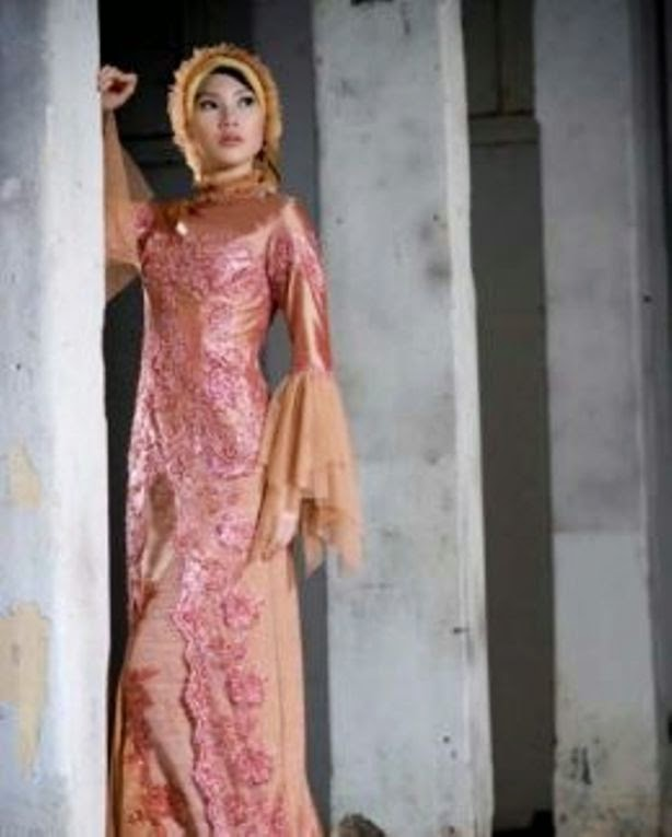 Model kebaya modern simple sederhana muslim brokat terbaru