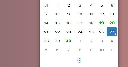 Bootstrap DateTimepicker Highlight Multiple Date