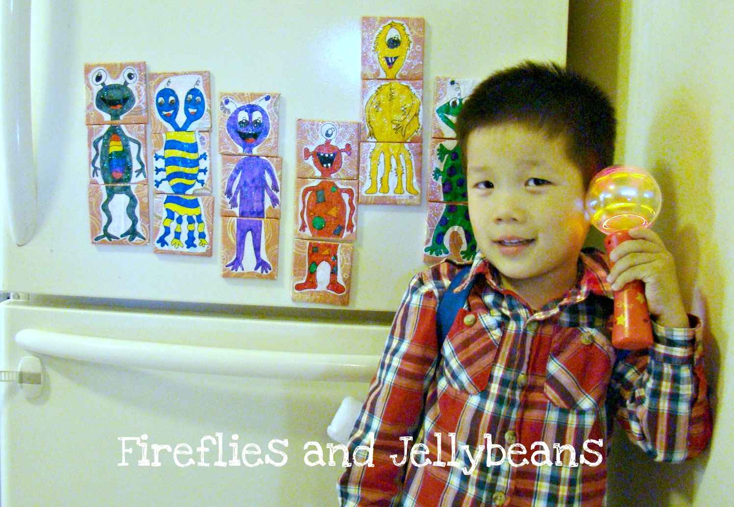 Fireflies And Jellybeans Mix And Match Alien Magnets Tutorial And Printables