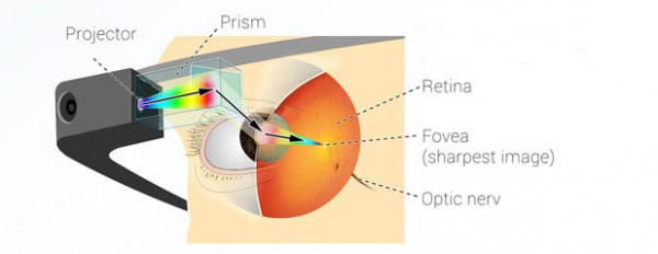 مكونات نظارة غوغل