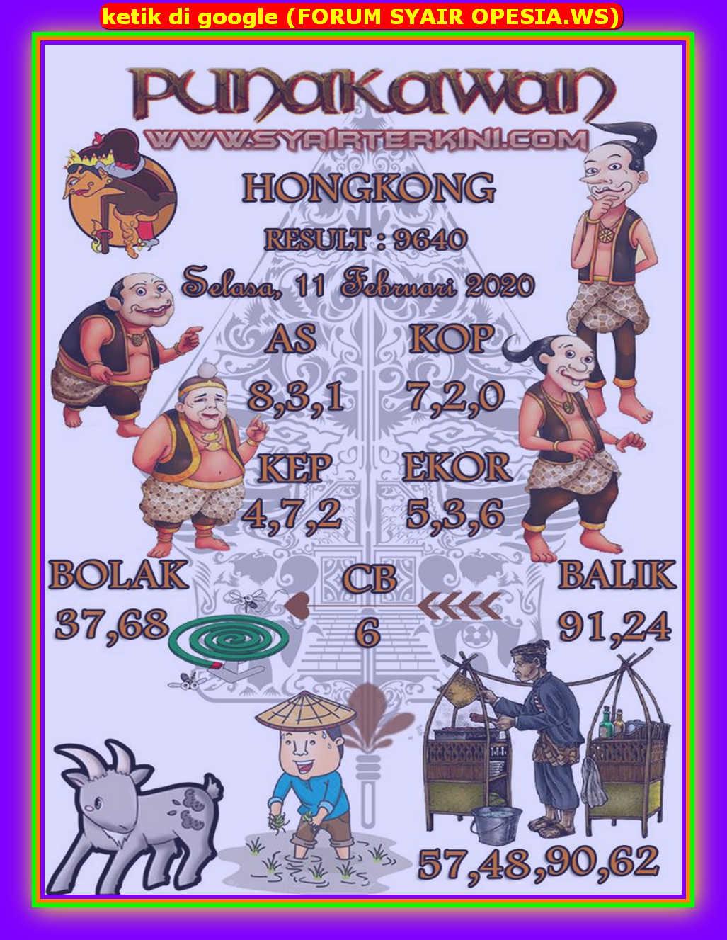 Kode syair Hongkong Selasa 11 Februari 2020 84
